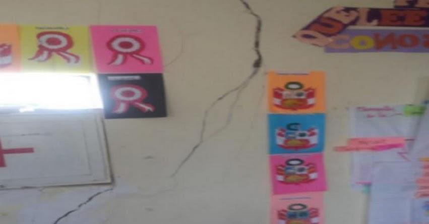 DRE Junín adopta medidas en colegios afectados por sismo