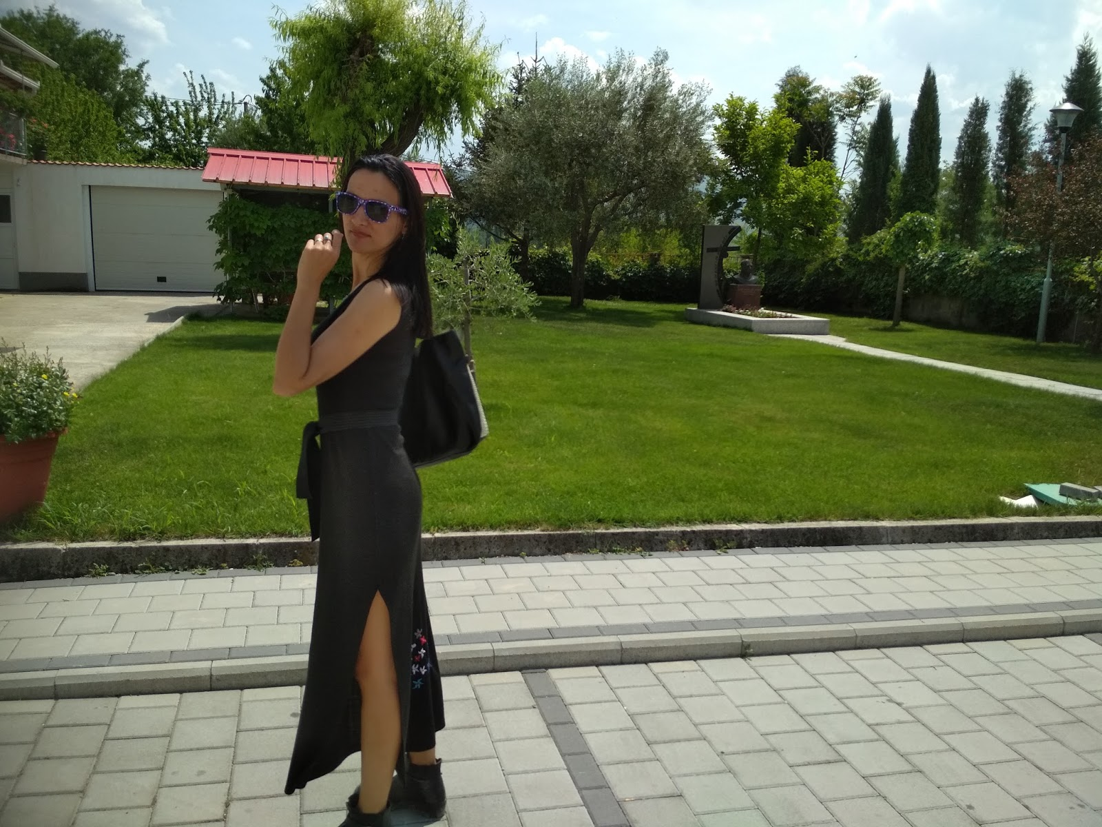 Black Maxi Dress For Spring + Visit To Buna river (BIH)