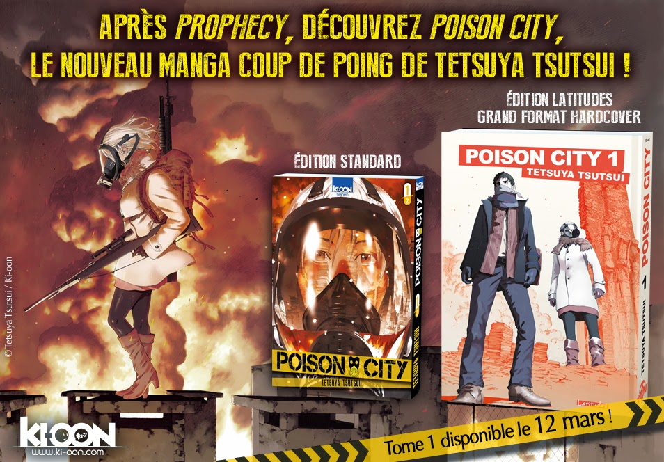 Tetsuya Tsutsui de retour chez Ki-oon en 2015 ! prophecy manga manhole poison city reset edition 12 mars tome 1 format classique collection latitude grand hardcover mangaka auteur artiste japon liberté expression nagasaki censure coulisse 2019 tokyo jeux olympiques puritanisme
