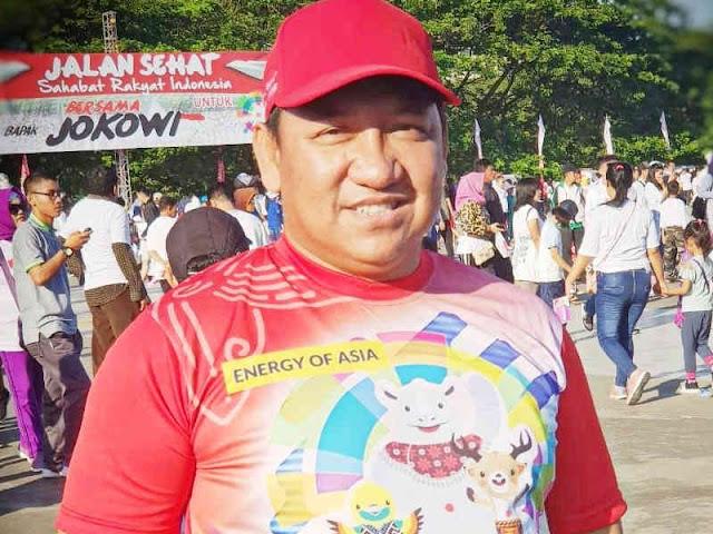 Aliong Mus Hadir di Jalan Sehat Sahabat Rakyat Indonesia Bersama Presiden Jokowi