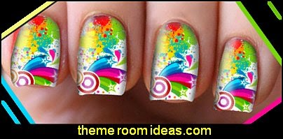 Pop Art Nail Art Decals Transfers Wraps Foils Nails