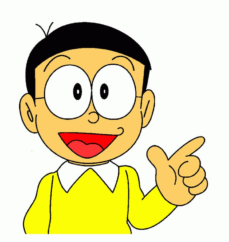 Nobita smiling funny face