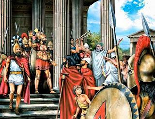 Αποτέλεσμα εικόνας για Η παράδοση της αρχαιας Ελληνικής Δημοκρατίας