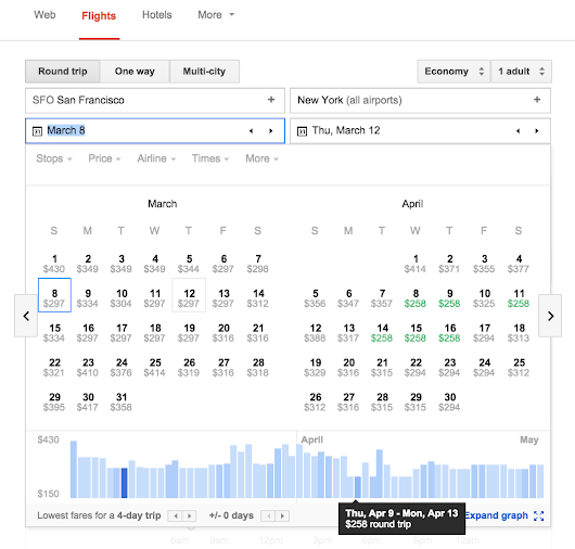 Get away with Google Flights