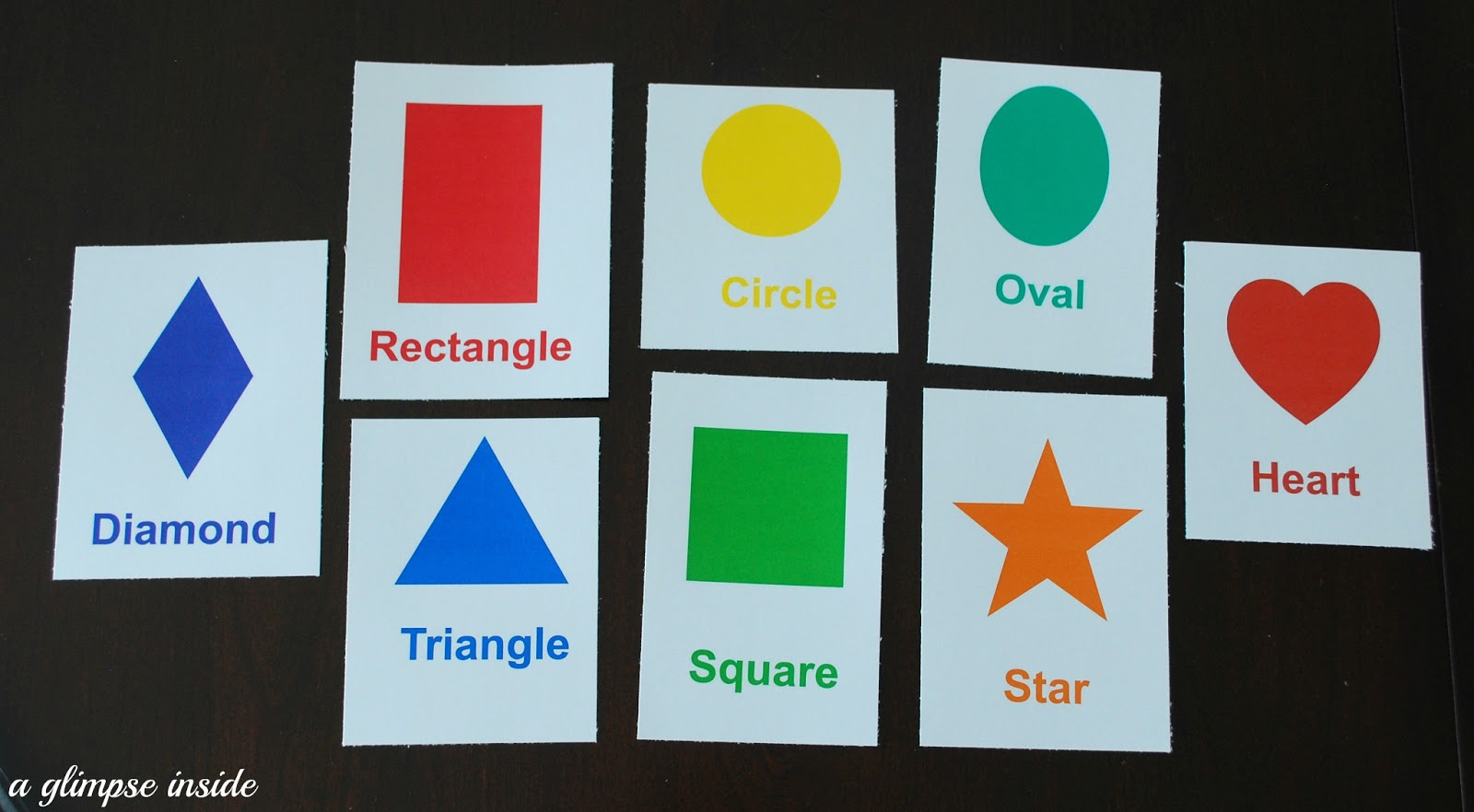 Color And Shape Flashcard Printables