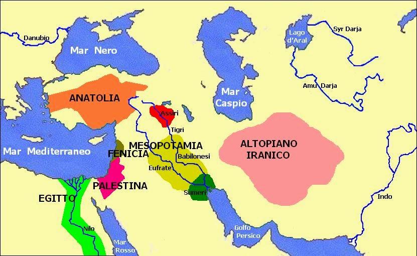 Cartina Europa E Medio Oriente.Imparare Con La Storia 6 Popoli Del Vicino Oriente