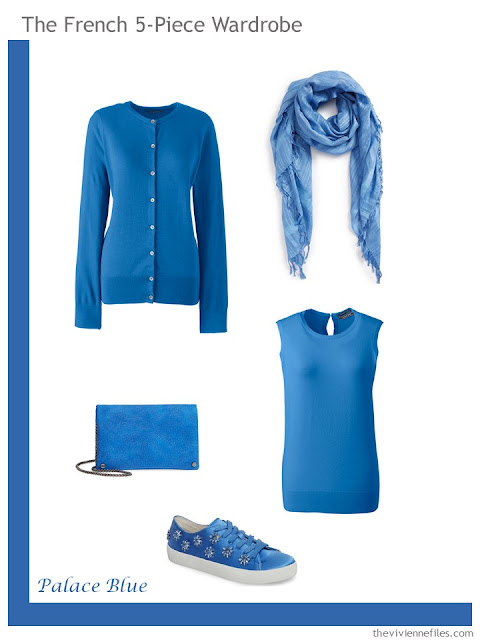 French 5-Piece Wardrobe in Palace Blue
