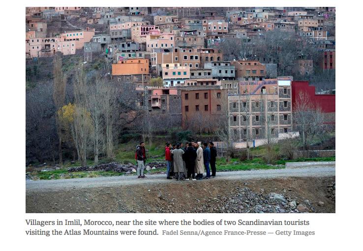 Men Held in Tourist Killings in Morocco