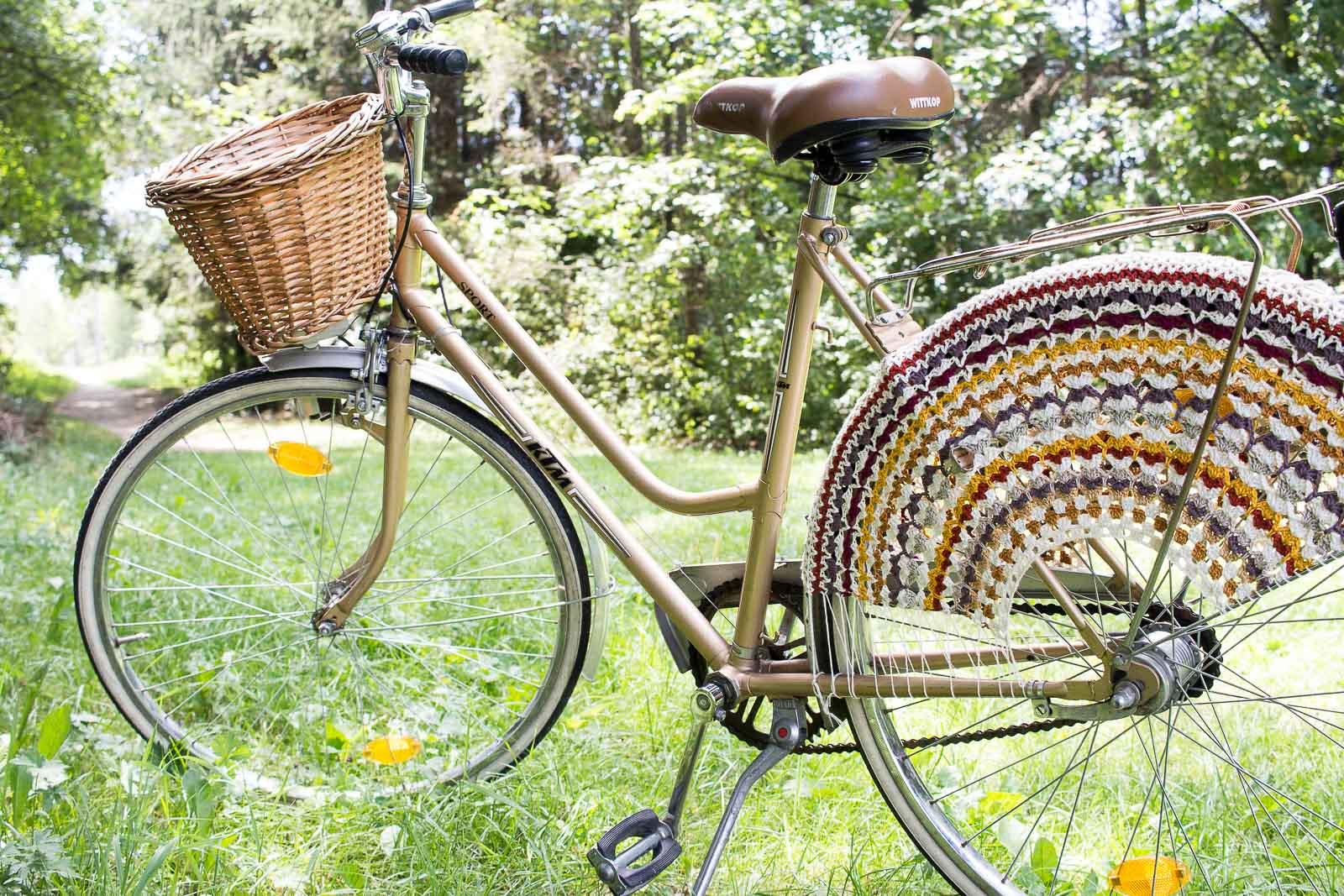 DIY Fahrradnetz häkeln - Crochet Skirt Guard