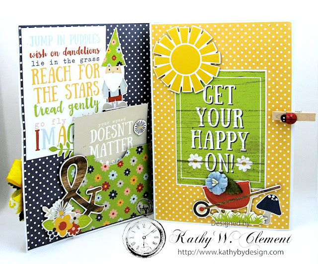 Chin Up Buttercup Tri Fold Encouragement Card by Kathy Clement 04