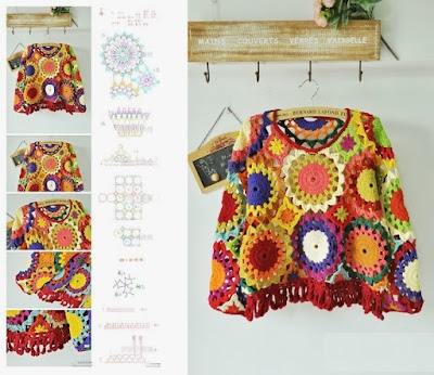 Composición formas geométricas crochet