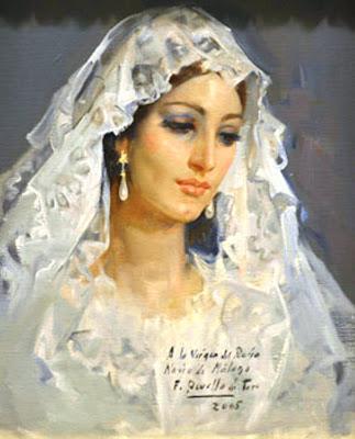 Virgen del Rocío, Félix Revello de Toro, Revello de Toro, Pintores Malagueños, Retratos de Revello de Toro, Pintor español, Pintores de Málaga, Pintor Revello de Toro