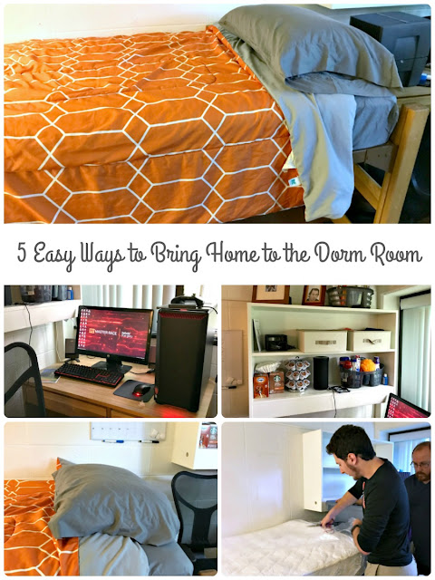 Make that college dorm feel more like home with these 5 Easy Ways to Bring the Comforts of Home to the Dorm Room.