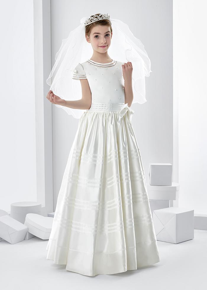 The flower duet elegant first communion dresses feat
