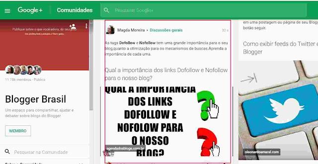 Publicação Dofollow na Comunidade do Google+.
