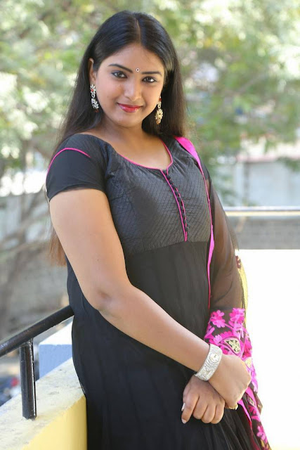 Poorni Photo Shoot Stills In Black Salwar Suit