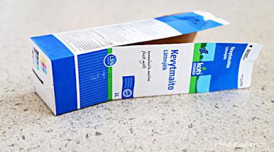 Arpakuutio maitopurkista