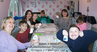 Stampin' Up! Susan Simpson Independent Stampin' Up! Demonstrator, Craftyduckydoodah!, Adult & Child Papercraft Workshop, No Bones About It, February 2016,