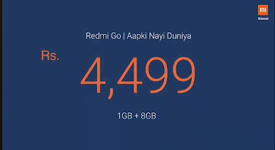 Redmi Go Phone Price in India