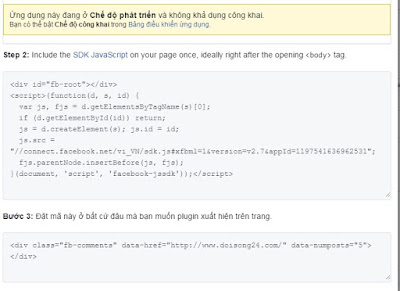 Cài đặt Comment Facebook cho Blogspot-Comment Facebook for Blogspot