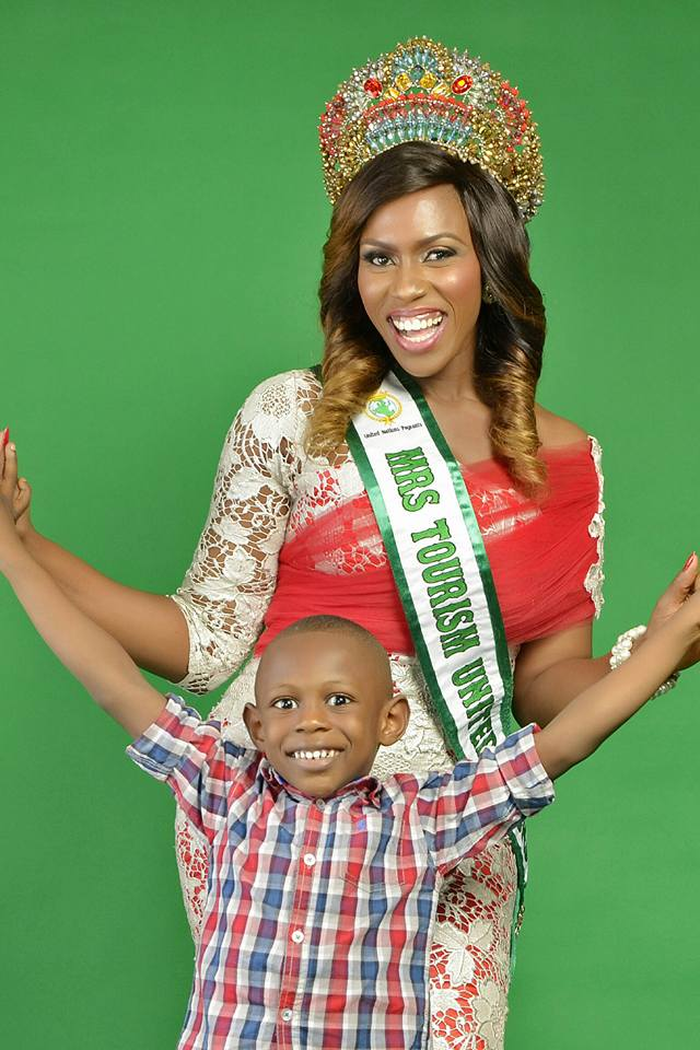 Mrs United Nation Tourism, Ebele Enemchukwu's Son Clocks Five Today