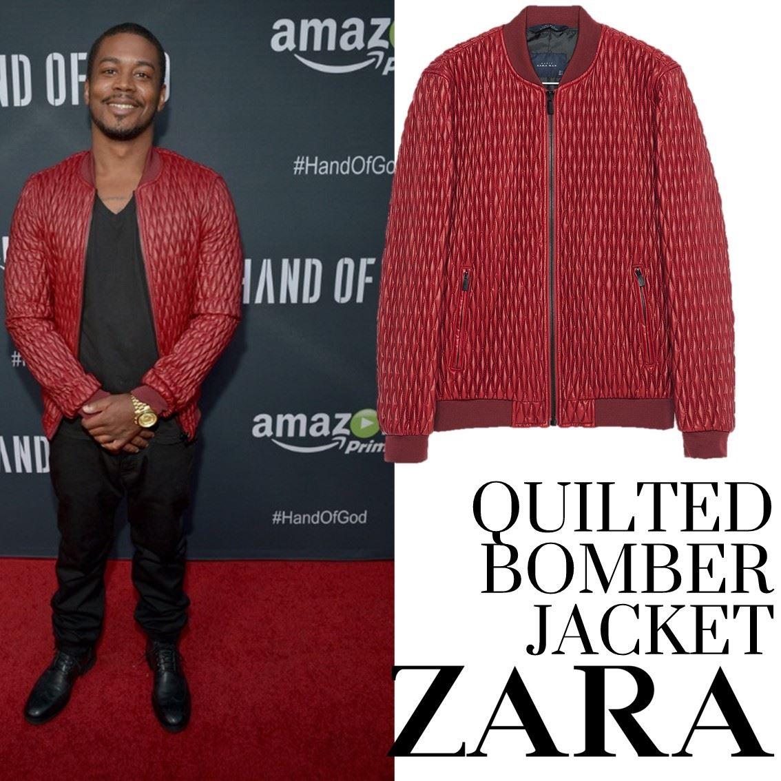 Cleavon Mcclendon Y Su Quilted Bomber Jacket De Zara