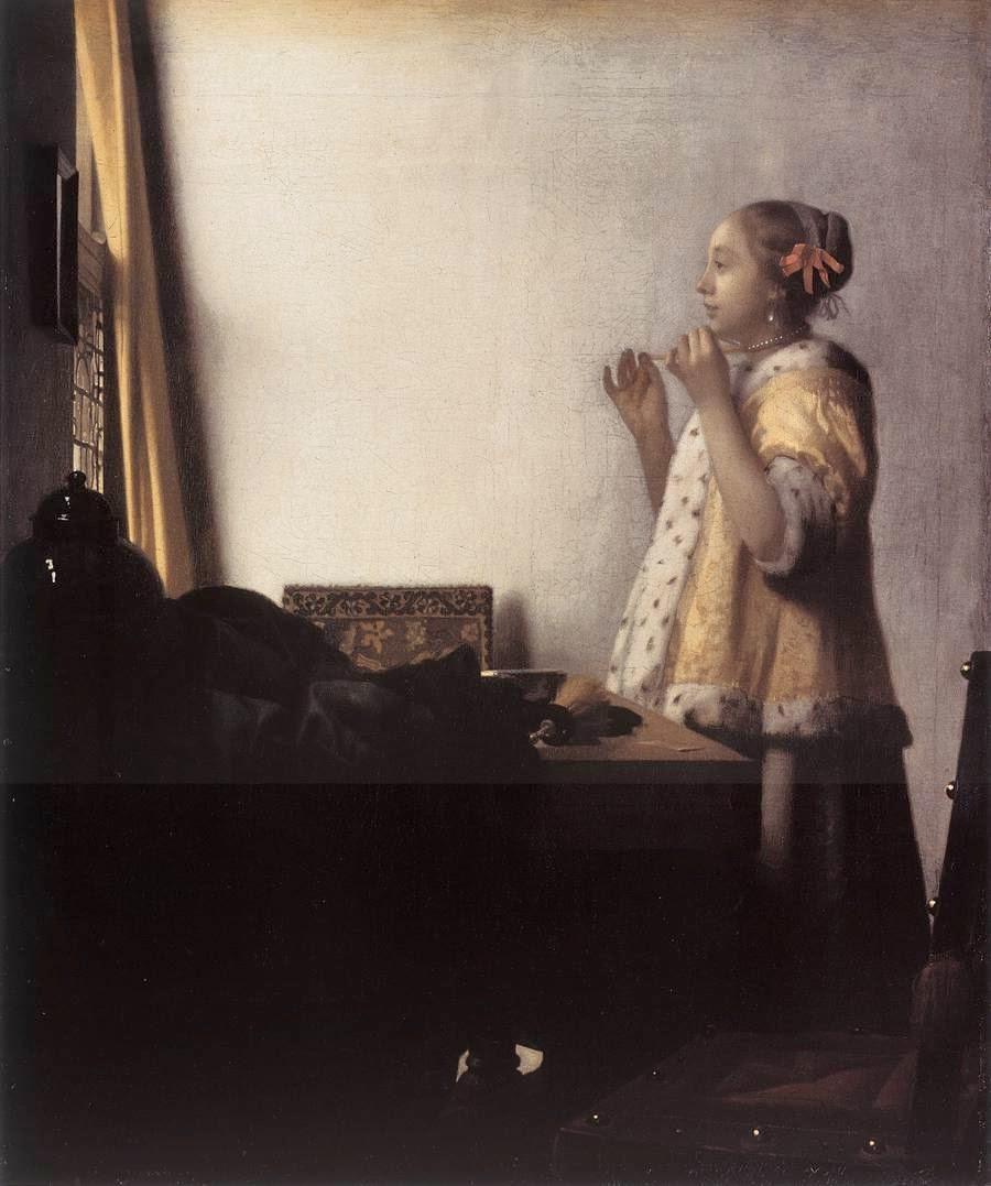 Mulher com um Colar de Pérolas - Vermeer, Jan e suas principais pinturas
