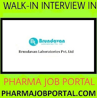 Brundavan Laboratories Pvt. Ltd – Walk-In Interview for QA Manager on 24th Nov' 2018