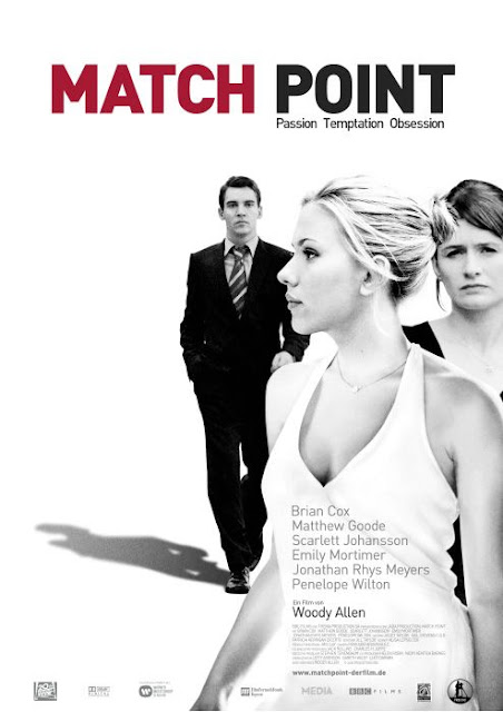Woody Allen's Match Point - film poster with Scarlett Johansson