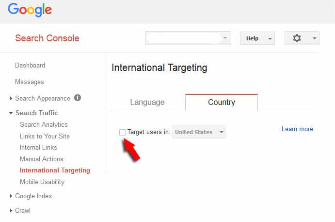 SEO Effects Of International Targeting in Google Search Console
