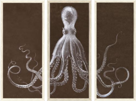 octopus triptych print Lord Bodner