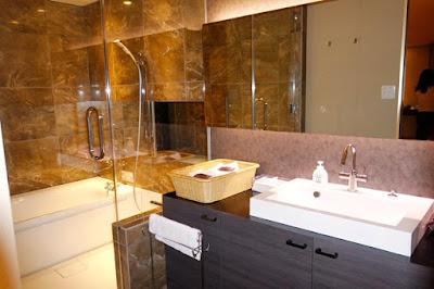 Bathroom of Botan room at Hanayashiki Ukifuneen at Uji Kyoto