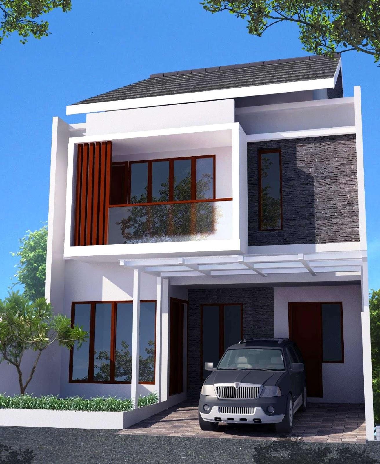 Model Rumah Minimalis Sederhana 2 Lantai Terbaru