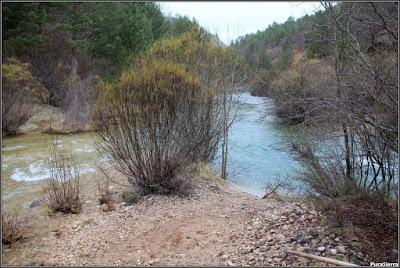 Desembocadura en Las Juntas (a la izquierda el Río Tajo y a la derecha el Río Del Puerto)