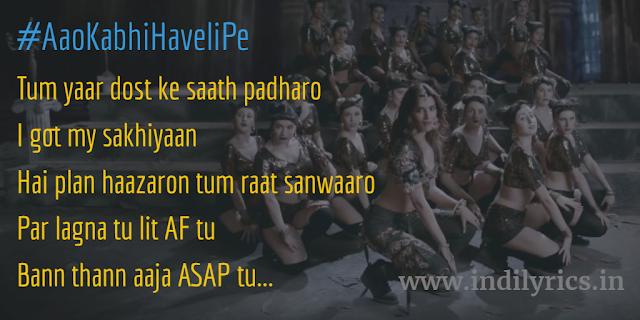 Aao Kabhi Haveli Pe | Stree | Nikhita Gandhi, Badshah ft. Kriti Sanon | full Audio Song Lyrics witth English Translation and real inner meaning | Quotes