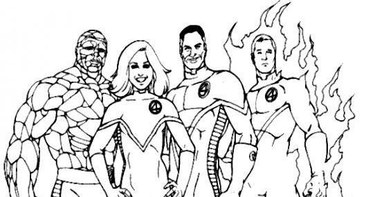 fantastic four coloring pages # 18