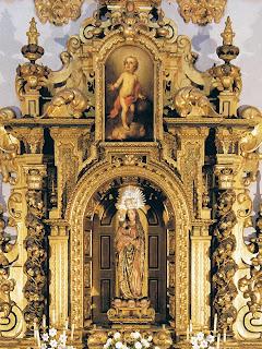 Retablo de la Virgen de la Caridad, de Bernardo Simòn Pineda, y Niño Jesús de Murillo