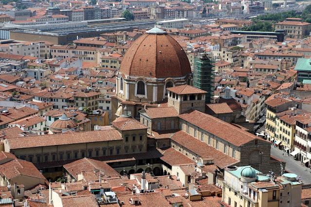 Basílica San Lorenzo vista do alto
