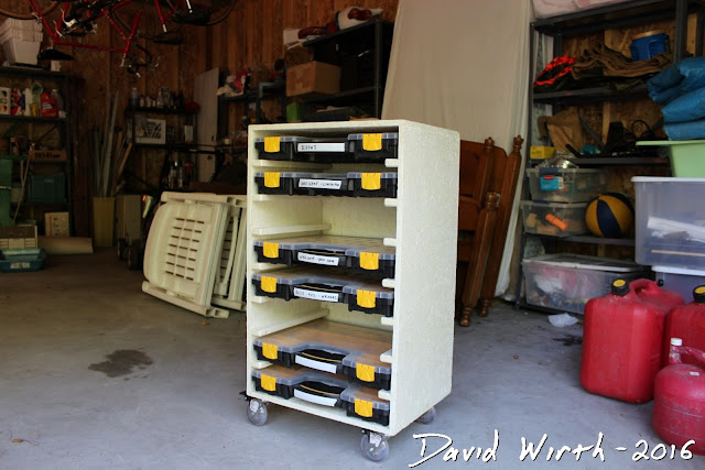 closet organizer, tool storage, harbor freight, sorting boxes, harbor freight case, build case, organize parts