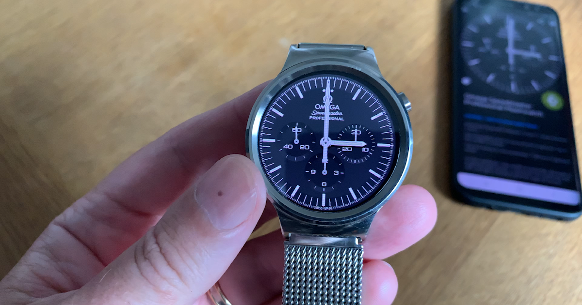 Omega Speedmaster Professional Moonwatch Watch Face for Tizen and Wear OS Features Walkthrough