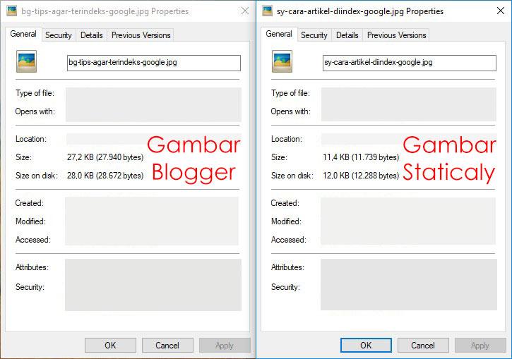 perbandingan gambar image sebelum dan sesudah dikompresi