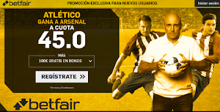 betfair supercuota Atletico gana a Arsenal 26 abril