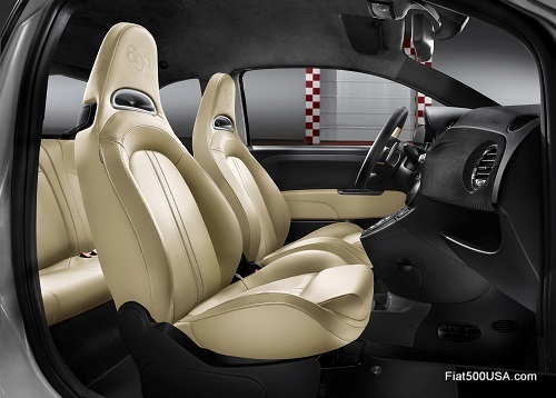 Abarth 695 'Black Diamond' interior