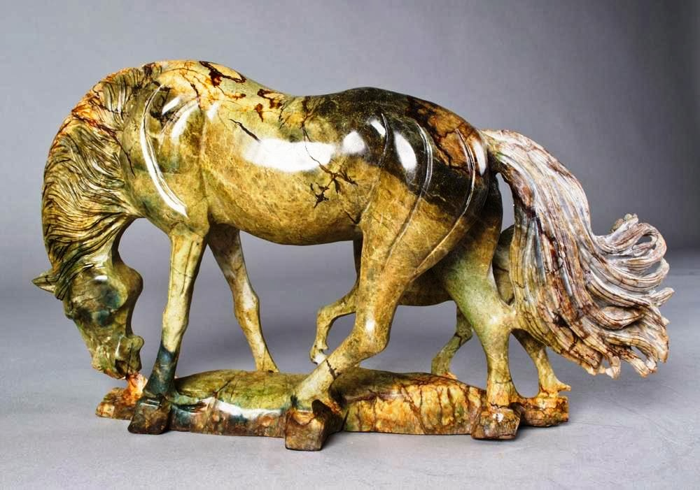 2014 - Year of the Horse - carved jade horse, China