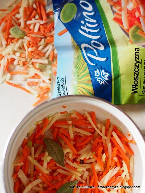 warzywa mrozone, mrozonki, latwo i szybko, wloszczyzna paski, zupa