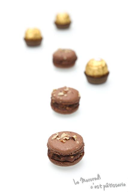 Macarons aux Ferrero Rocher