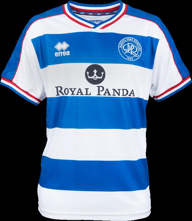O modelo titular possui largas listras horizontais em branco e azul com  detalhes em vermelho na gola e nos punhos. A camisa reserva  predominantemente ... e66fd56c713f4