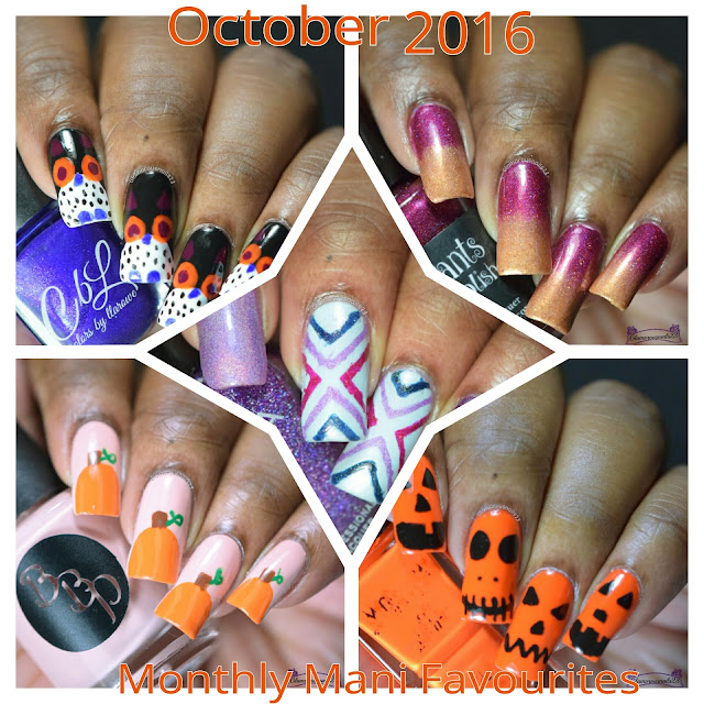 October 2016 Monthly Mani Favourites