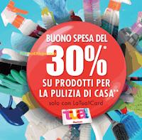 Logo Con la Casa pulita Auchan ti rende un buono spesa del 30%