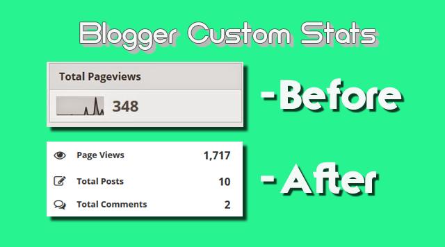 Cara membuat tampilan statistik blog keren